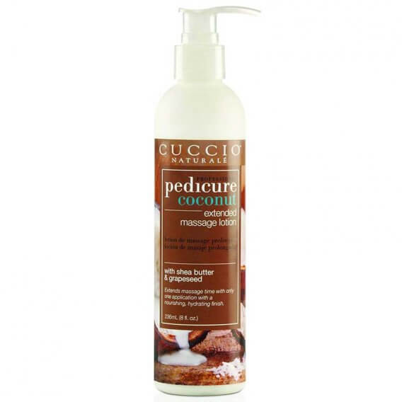 Cuccio Naturale Pedicure Extended Massage Lotion Coconut 8oz