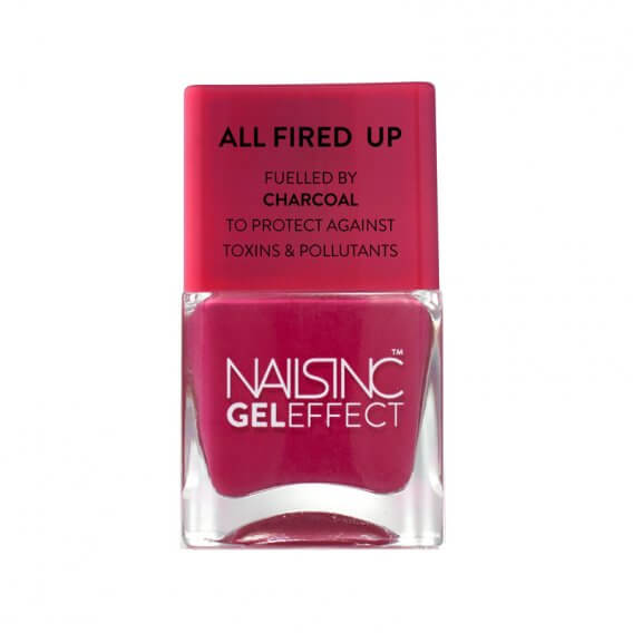 Nails Inc Nobel Street Gel Effect Nail Polish All Fired Up 14ml