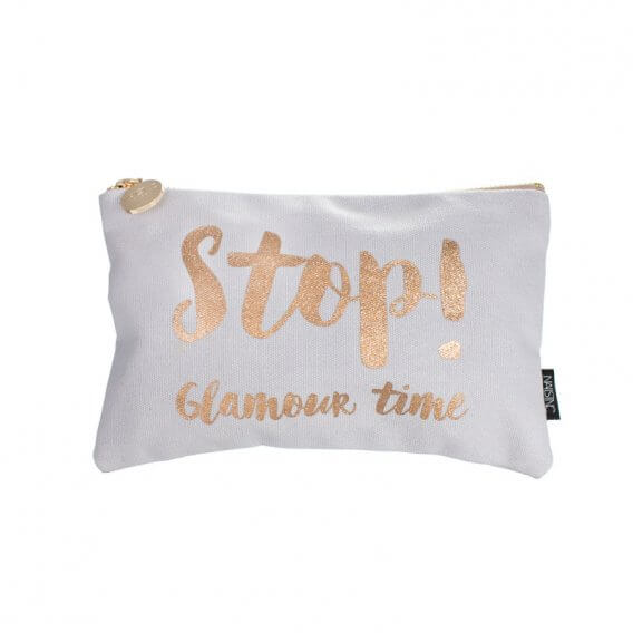 Nails Inc Grey Cosmetic Bag - Stop! Glamour Time
