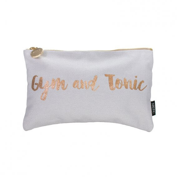 Nails Inc Grey Cosmetic Bag - Gym and Tonic