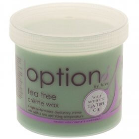 Options by Hive Tea Tree Creme Wax 425g