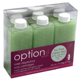 Options by Hive Roller Depilatory Refills Tea Tree Creme Wax (6x80g)