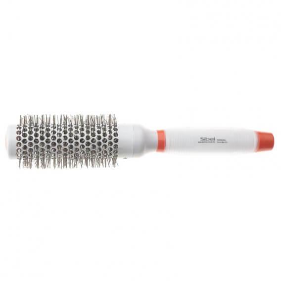 Sibel White Silicon Gel Tourmaline Nylon Brush 363 33mm