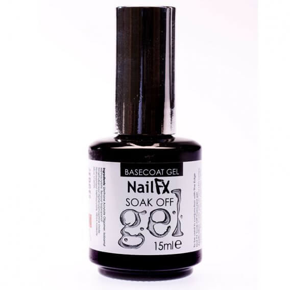 NailFX Base Coat Gel Soak Off Coloured Gel Polish 15ml