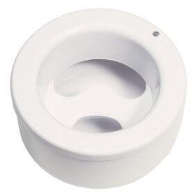 White Round Acetone Safe Manicure Bowl