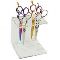 Square Perspex Scissor Stand 4 Pairs