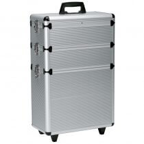 Sibel Modular Professional Trolley Case Silver Aluminium