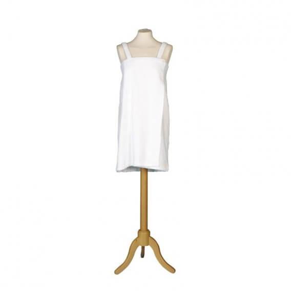 Terry Shower Wrap White Medium