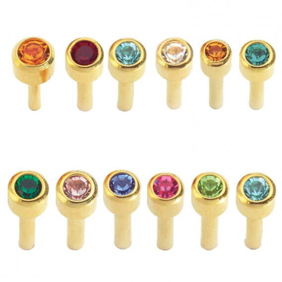 Caflon Assorted Birthstone Packs 24ct Gold x 12