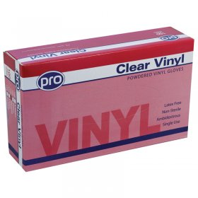 Disposable Vinyl Gloves Small 50 Pairs
