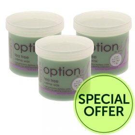 Options by Hive Tea Tree Wax 425g Special Offer Pack