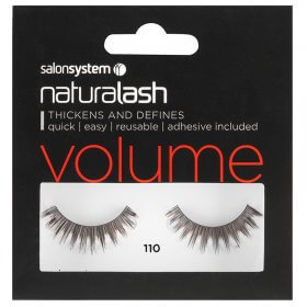 Salon System Naturalash 110 Black Strip Lashes