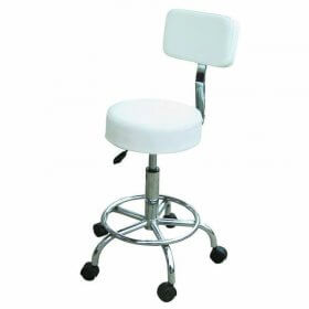 Lotus Compact Beauty Stool with Backrest + Footrest