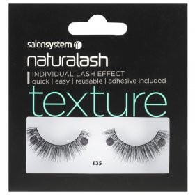 Salon System Naturalash 135 Black Texture Strip Lashes