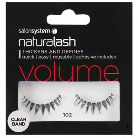 Salon System Naturalash 102 Black Strip Lashes