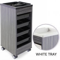 REM Stadium Trolley Twilight with White Flat Top & Trays