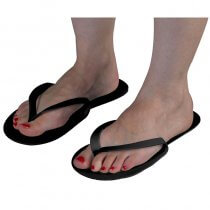 Disposable Black Flip Flops x 12 pairs