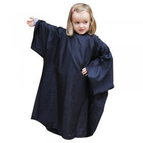 Lotus Childrens Crinkle Nylon Gown with Sleeves, Black