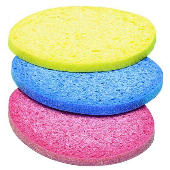 Sibel Oval Cosmetic Sponge x 3 Colours