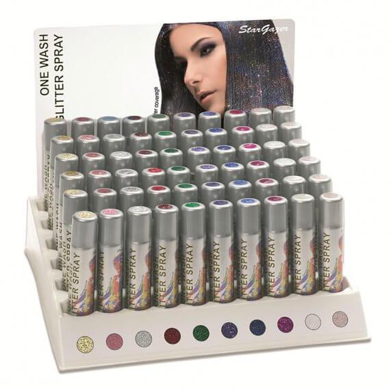 Stargazer Glitter Hair Spray Retail Stand (60 x 75ml)