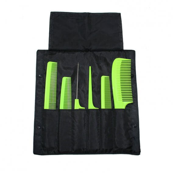 Denman Precision Comb Wallet Filled Green Combs