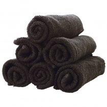 Classic Hair Towel Black x12
