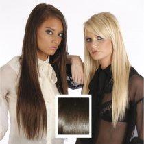 Universal 18in Dark Brown 3 Clip in Human Hair Extensions 105g