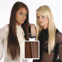 Universal 18in Medium Brown/Light Brown/Golden Blonde Mix P6/12/24 Clip in Human Hair Extension 105g