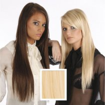 Universal 20in Very Light Blonde 613 Clip in Human Hair Extensions 105g