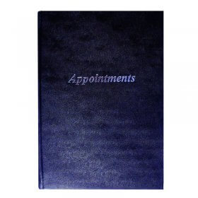 Lotus Black Appointment Book 6 Column