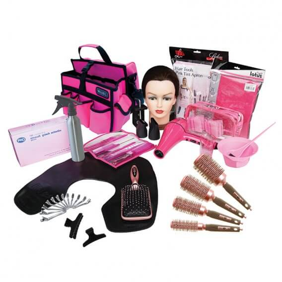 Complete Pink Hairdressing College Kit