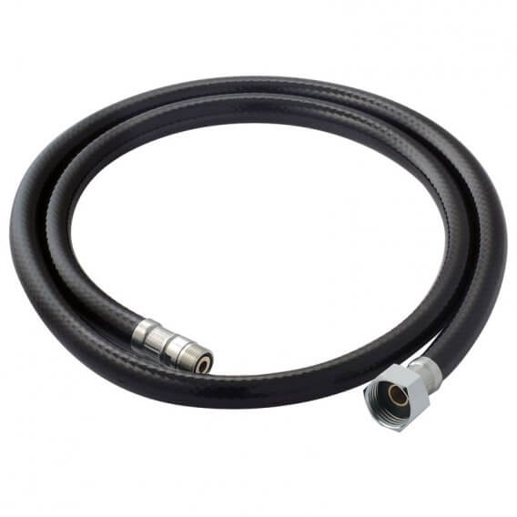 Black Hose 1.2m with Male and Female Fittings