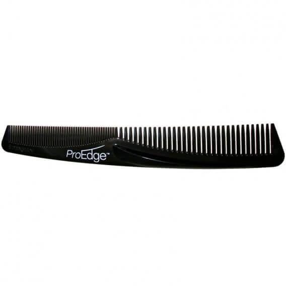 Denman Black ProEdge Cutting Comb With Ledge