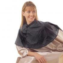 Hair Tools PVC Shoulder Cape Black