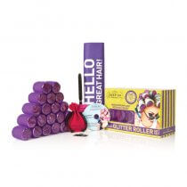 Sleep In Rollers Purple Glitter Gift Set