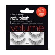 Salon System Naturalash Twin Pack Strip Eyelashes 100 Black