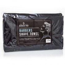 BARBER PRO Barbers Shave Towel BLACK 70cm x 20cm (4pk)