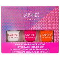 Nails Inc Stay Bright Neon Mini Trio Nail Polish Collection