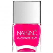 Nails Inc Stay Bright Neon Claridge Gardens Pink Nail Polish 14ml