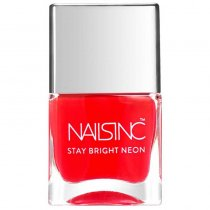Nails Inc Stay Bright Neon Great Eastern Street Coral Nail Polish 14ml
