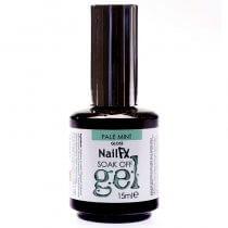 NailFX Pale Mint Soak Off Coloured Gel Polish 15ml