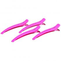 Framar Elastic Section Clips x 4 Pink