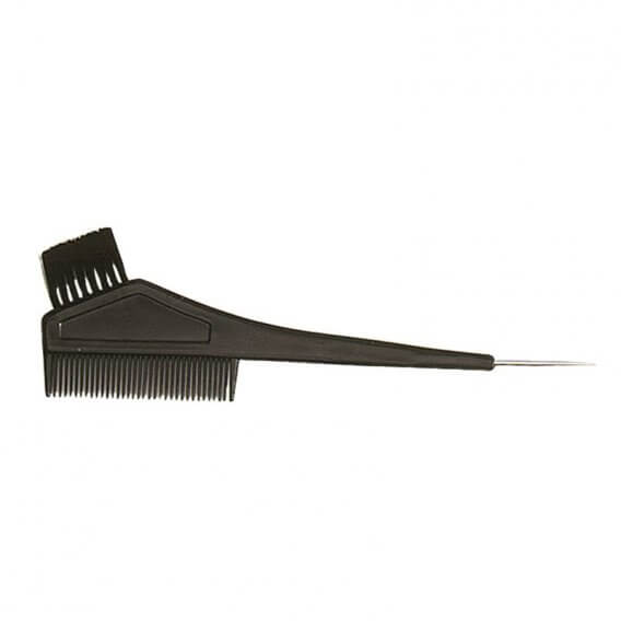 Sibel Tinting Brush with Comb/Lifter Black