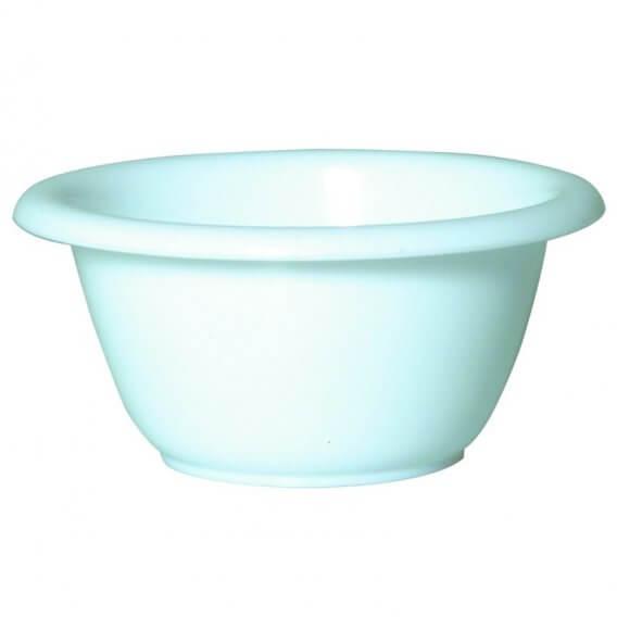 Sibel Plastic Beauty Bowl White 3 3/4in Diameter