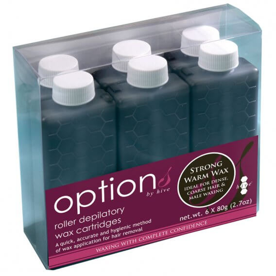 Options by Hive Xtra Strong Warm Wax Roller Depilatory Cartridges 6 x 80g