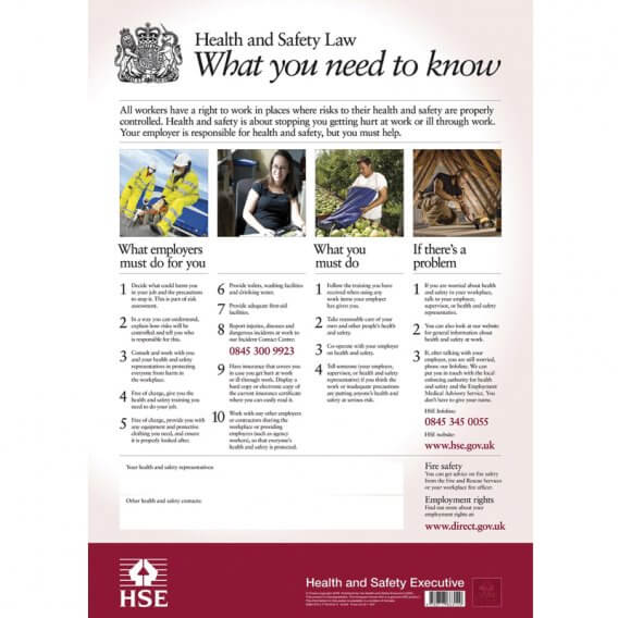 Health + Safety Law Poster (1mm Width PVC)