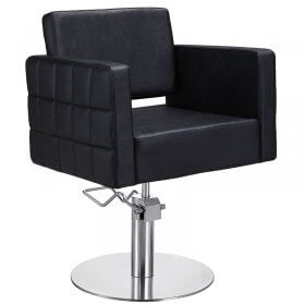 Lotus Washington Styling Chair Black with Round Base
