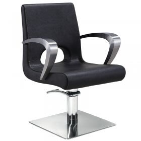 Lotus Portland Styling Chair Black with Square Base