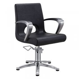 Lotus Portland Styling Chair Black with 5 Star Base