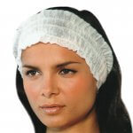 White Disposable Stretch Headband x 100